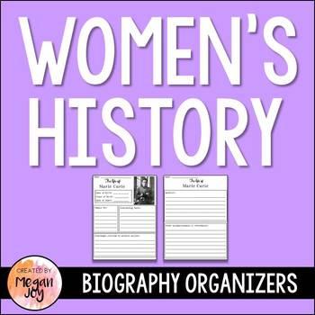 Women's History Research Organizer Bundle