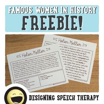 Famous Women in History FREEBIE