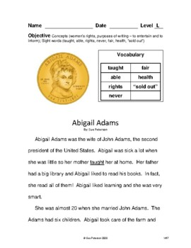 Famous Women in History:  Leveled Books for Grades 2 - 4