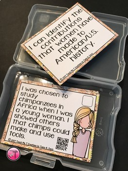 Famous Women in History Scoot FREEBIE With QR Codes