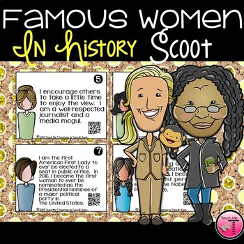 Women in History Scoot or Task Cards With QR Codes| Women's History