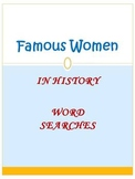 FLASH FREEBIE Famous Women in History Word Searches