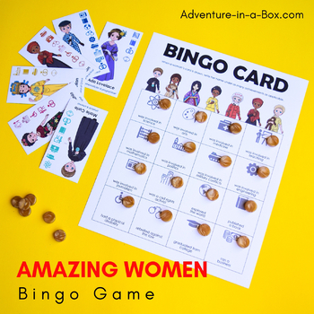 Famous Women in History for Kids: Bingo Game for Women's History Month