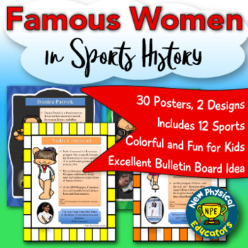 Famous Women in Sports Biography Posters