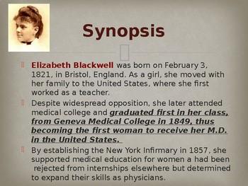 Famous Women of Medicine - Elizabeth Blackwell