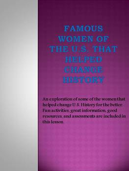Famous Women of the U.S. that Helped Change History