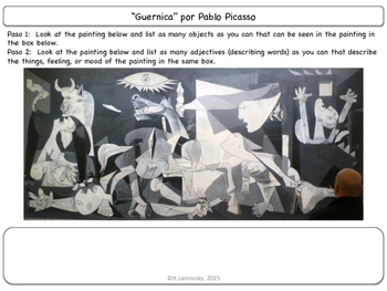Famous Works of Art:  Pablo Picasso