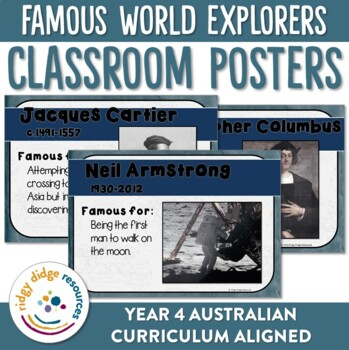 Famous World Explorers Posters