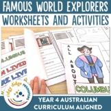 Famous World Explorers Posters, Powerpoint, Worksheets, Research Printables