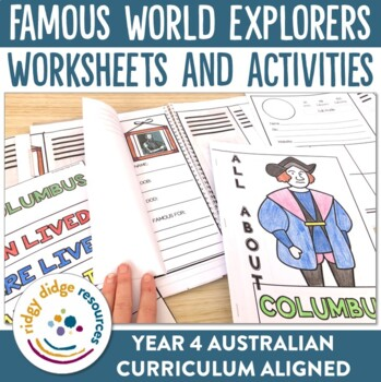 Famous World Explorers Posters, Worksheets, Research Printables