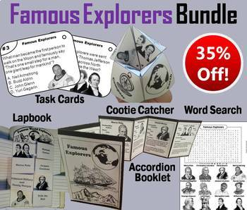 Famous World Explorers Task Cards and Activities Bundle