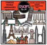 Famous World Landmarks Clip Art Bundle