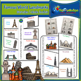 Famous World Landmarks Interactive Foldable Booklet