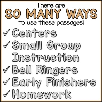 Famous World Landmarks Reading Comprehension Passages (K-2) - Social Studies