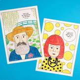 Famous artist coloring pages #2 (Monet, Dali, Klimt, Magri