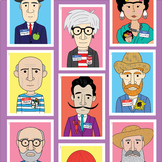 Famous artist name tag posters (10 artists)