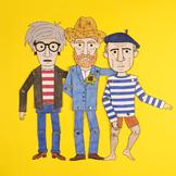 Famous artist paper dolls (9 artists)