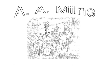 Famous authors - A A Milne Winnie the Pooh stories