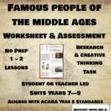 Famous People in the Middle Ages Worksheet - Middle Ages -