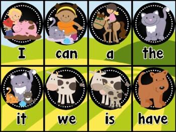 Farm Sight Word Card Game