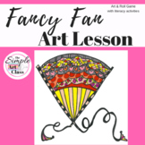 Art Lesson: Fancy Fan Art Game | Art Sub Plans