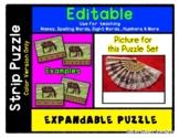 Fan - Expandable & Editable Strip Puzzle w/ Multiple Options *o