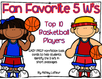 Fan Favorite 5 Ws Task Cards (Answering 5 W Questions in Non-fiction Text)
