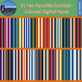 Fan Favorite Football Colored Digital Paper