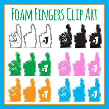 Fan Fingers / Foam Fingers / Hands Clip Art for Commercial Use