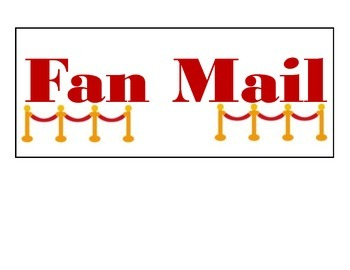 Fan Mail Sign-Hollywood Classroom Decor