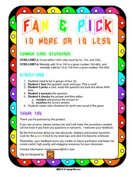 Fan & Pick (10 More, 10 Less)