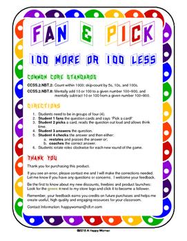 Fan & Pick (100 More, 100 Less)
