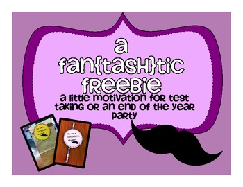 Fan-TASH tic Freebie for Testing  End of School Year or Ba