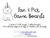 Fan and Pick Boards (black & white)
