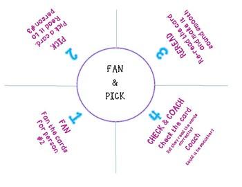 Fan and Pick Fluency Practice