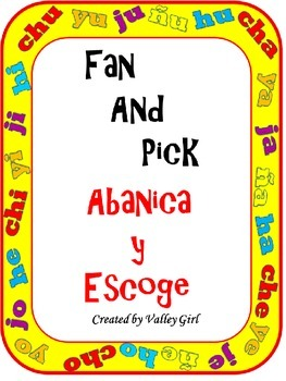 Fan and Pick: Syllables with Ch, J, H, Y, and Ñ