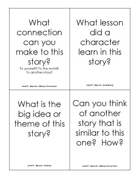 Fan-n-Pick Cards - F&P Guided Reading Goal Questions for Levels N,O,P Fiction