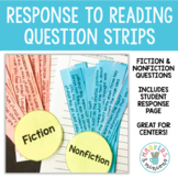 Response to Reading Question Strips (Benchmark Advance & Adelante)
