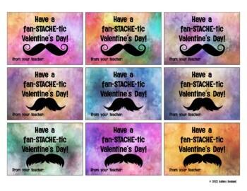 Fan-tache-tic Reader Mustache Valentines