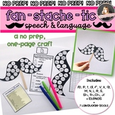 Valentine's Day Speech Therapy No Prep Craft: FanSTACHEtic Speech Mustaches