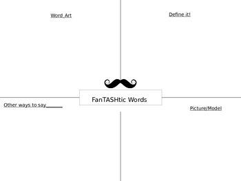 FanTASHtic words- word work frayer model