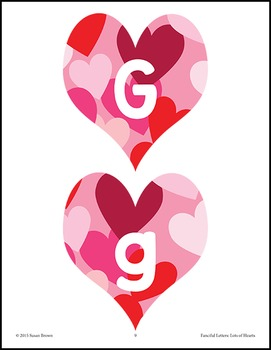 Fanciful Letters: Lots of Hearts