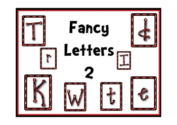 Fancy Alphabet Lowercase and Capital Clipart Letters