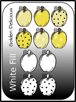 Fancy Apples Clipart