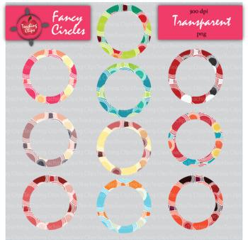 Fancy Circles Borders - Transparent