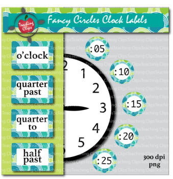 Fancy Circles Clock Labels - Daylight Pattern