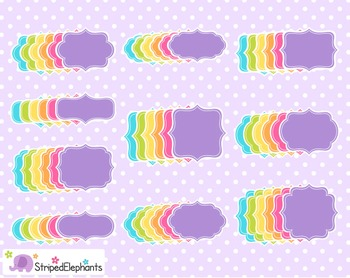 Fancy Colored Clip Art Frames