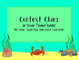 Context Clues Bundle: Minilesson, Journal Pages, Game or Task Cards!