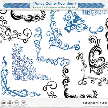 Fancy Corner Flourishes - Elegant and Formal  - Romantic P
