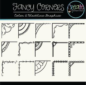 Fancy Corners - Digital Clipart